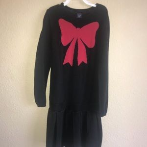 Gap Red and Black Sweater Dress